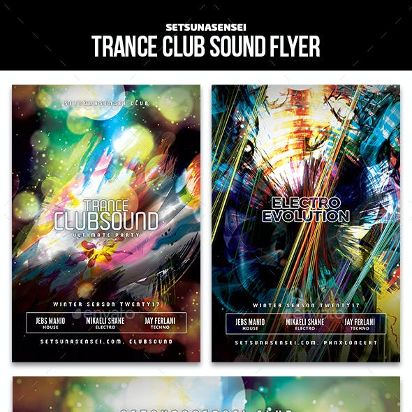 Trance Club Sound Flyer