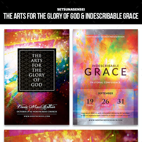 The Arts for the Glory of God & Indescribable Grace Church Flyer