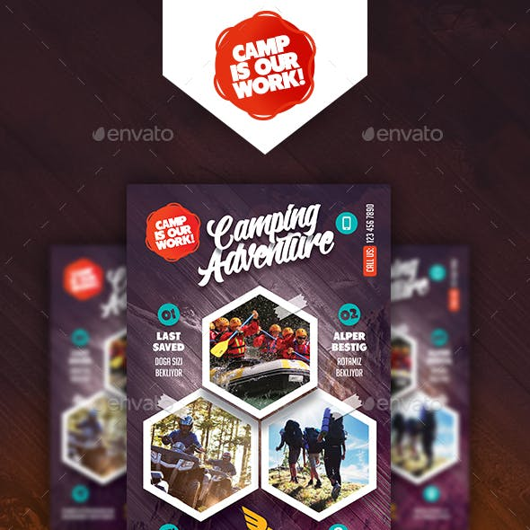 Camping Adventure Poster Templates