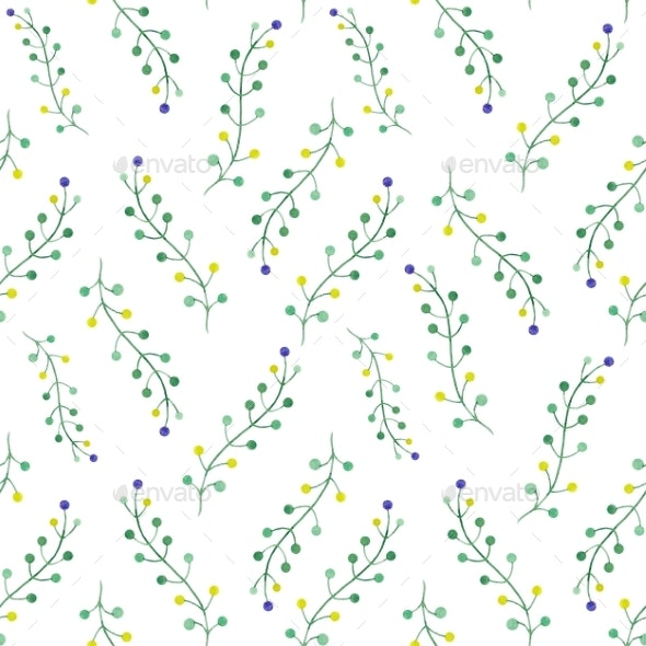 Watercolor Floral Pattern - Patterns Backgrounds
