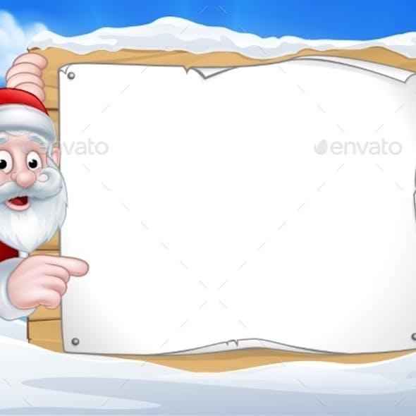 Santa Christmas Sign Background