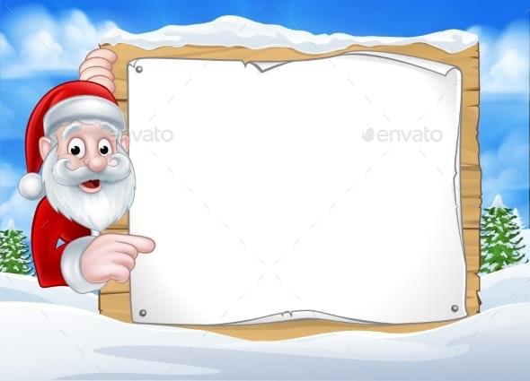 Santa Christmas Sign Background - Miscellaneous Vectors