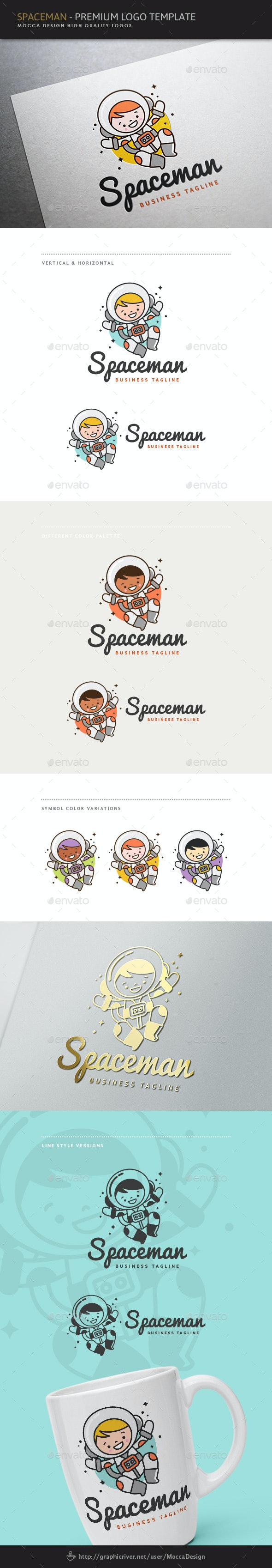 Little Spaceman Logo - Humans Logo Templates