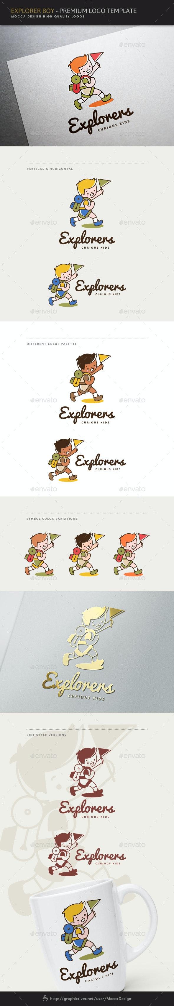 Explorers - Explorer Boy Logo - Humans Logo Templates