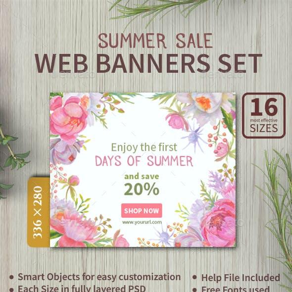 Summer Sale Web Banners Set