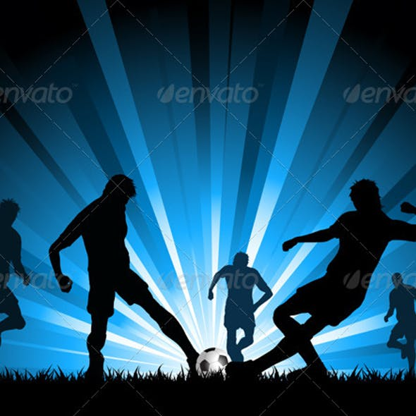 Men playing soccer