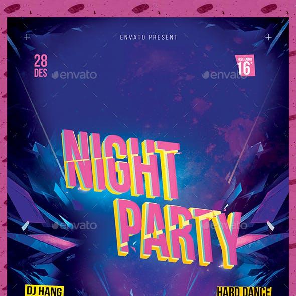 Night Party v.2 Flyer