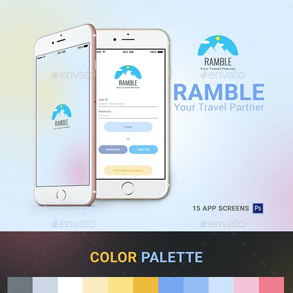 Travel Mobile App - Ramble