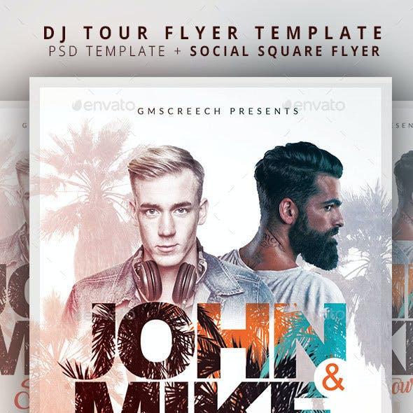 Summer Dj Tour Flyer Template