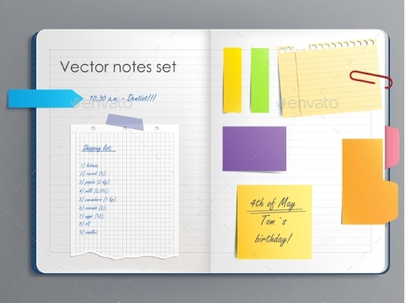 Vector Illustration of a Notebook Page - Miscellaneous Vectors
