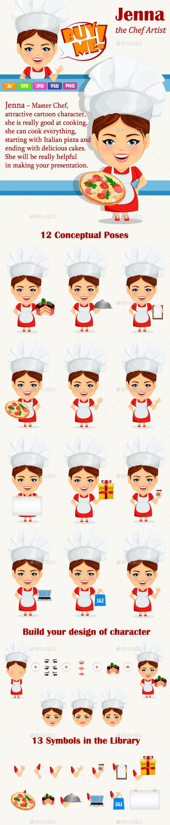 Master Chef Mascot Pack - Characters Vectors