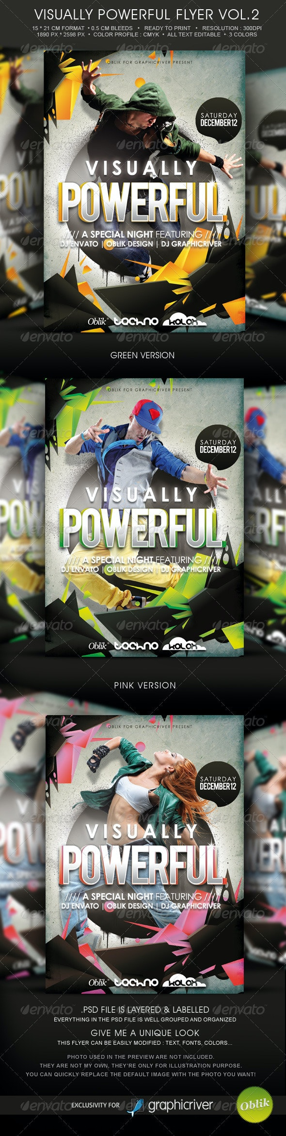 Visualy Powerful Template Flyer Vol.2 - Clubs & Parties Events