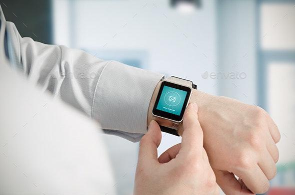 Smartwatch Mockup Real Photo - Displays Product Mock-Ups