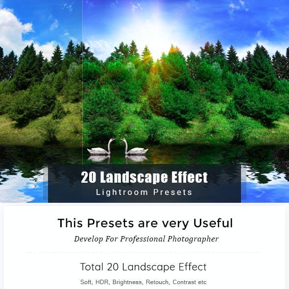 20 Landscape Effect | Lightroom Preset