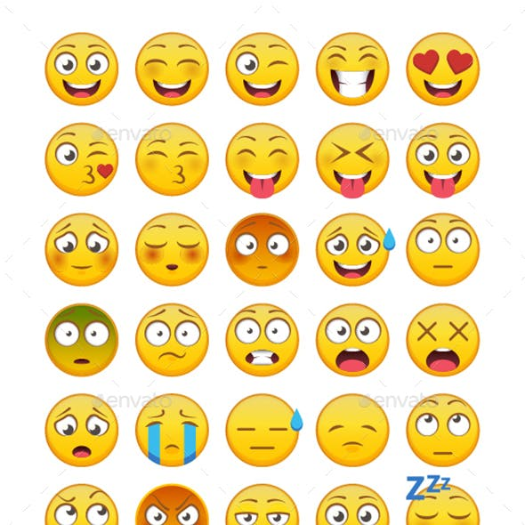 30 Emoticons Vector Pack 1