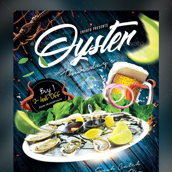 Oyster Thursdays Flyer Template