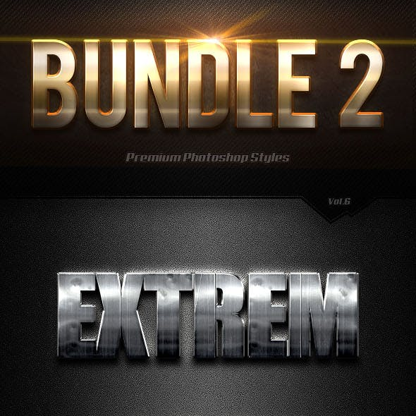 40 Photoshop Text Effects Bundles 2