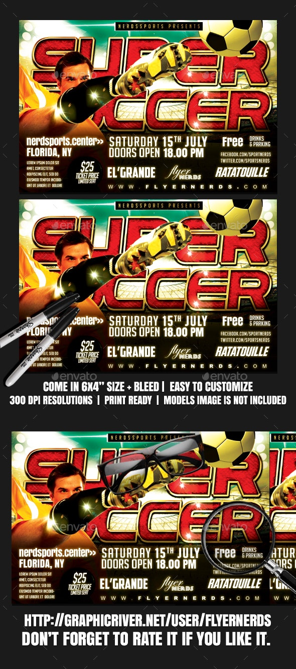 Super Soccer Sports Flyer - Sports Events