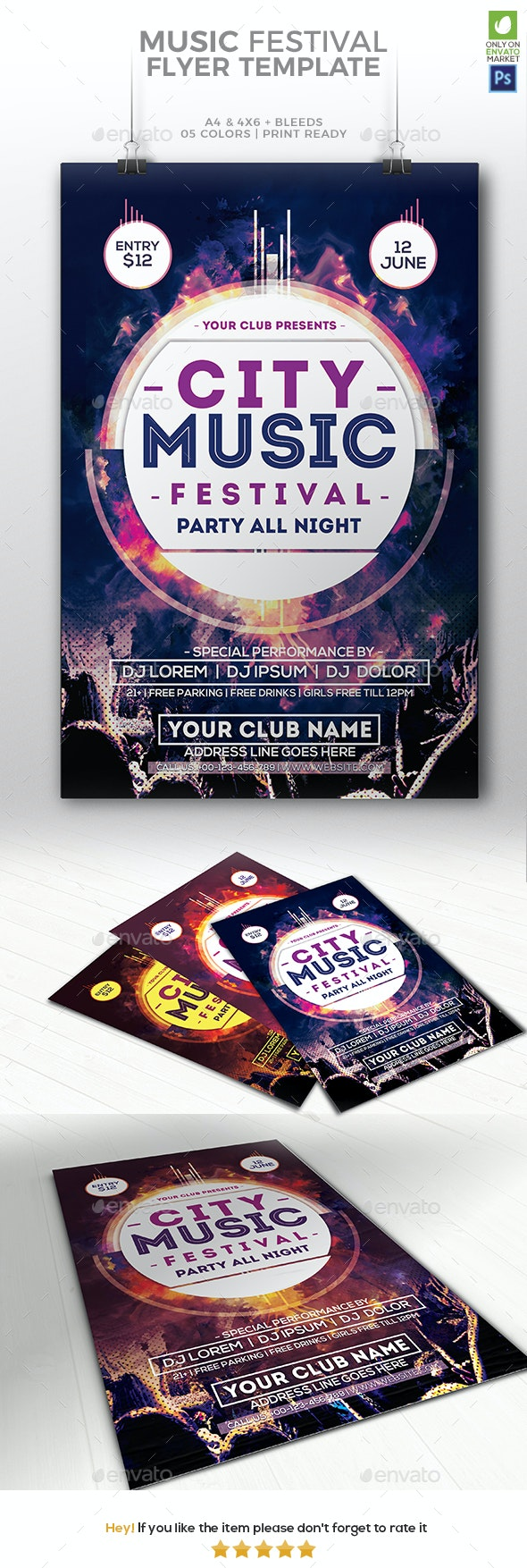 Music Festival Flyer - Events Flyers