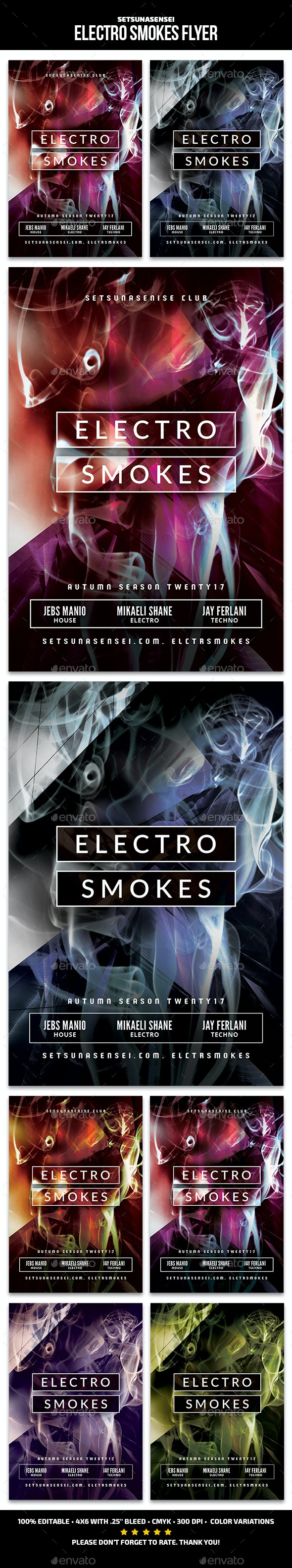 Electro Smokes Flyer - Clubs & Parties Events