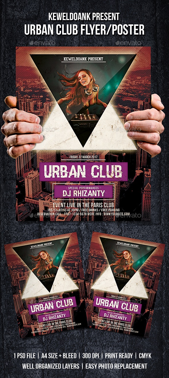 Urban Club Flyer / Poster - Clubs & Parties Events