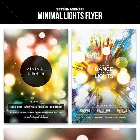 Minimal Lights Flyer