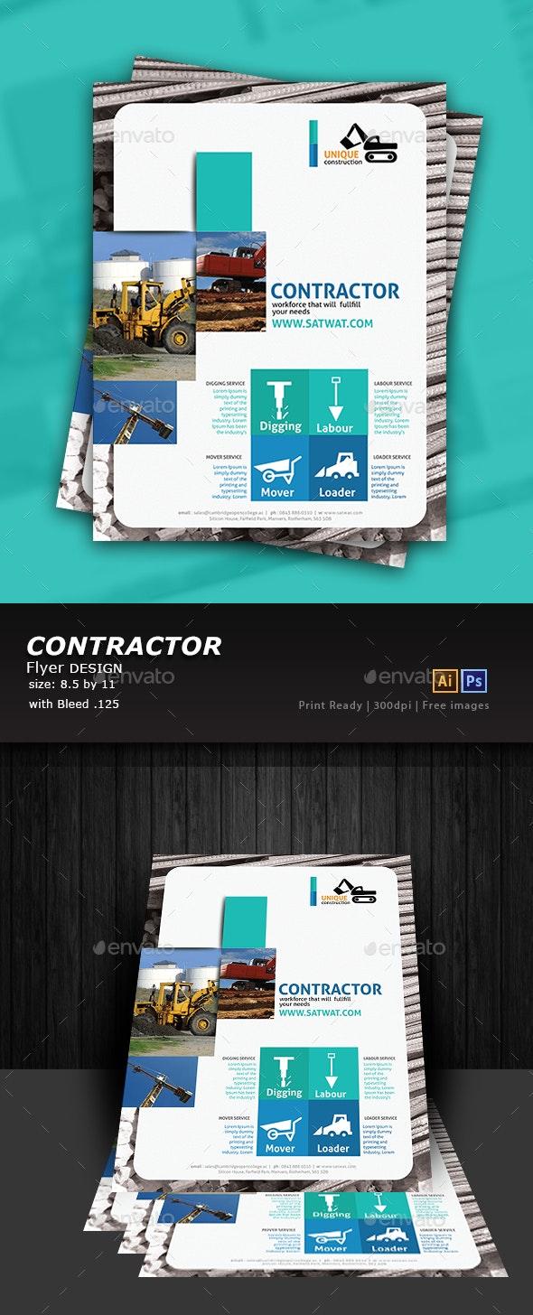 Construction Flyer Design - Flyers Print Templates