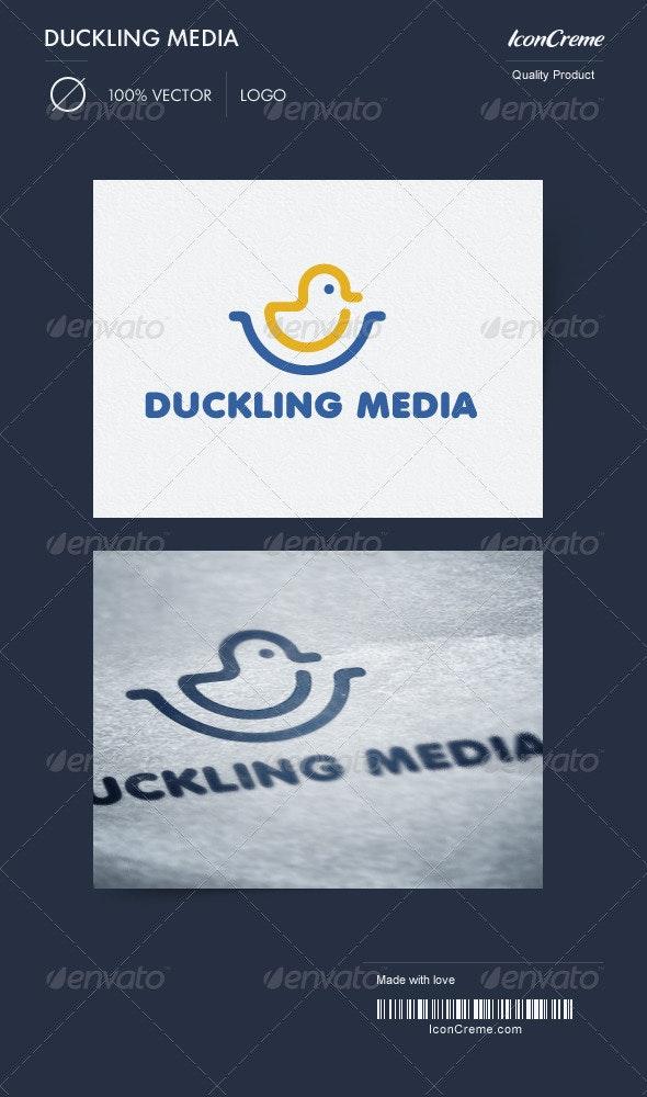 Duckling Media Logo - Animals Logo Templates