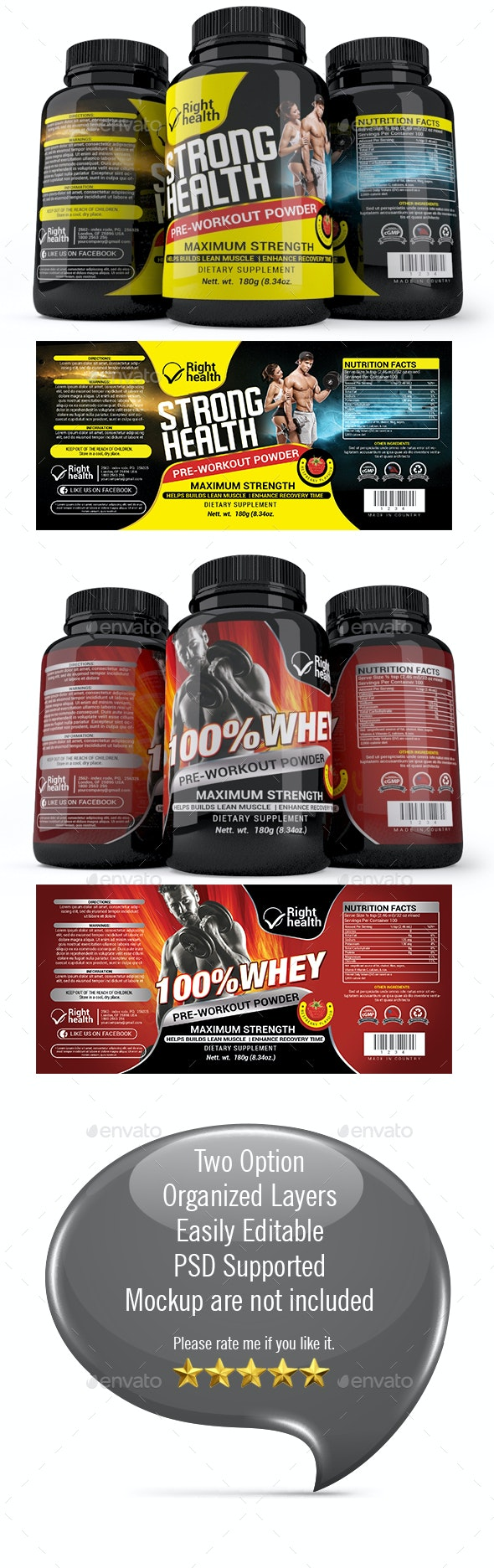 Supplement Label Template -014