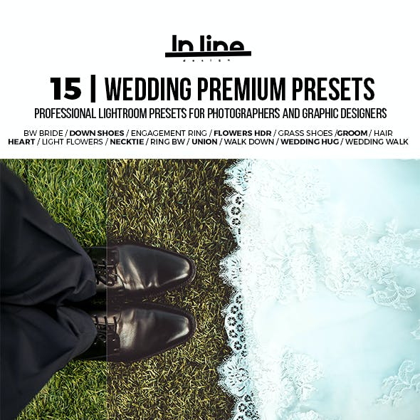 15 Premium Wedding Lightroom Presets
