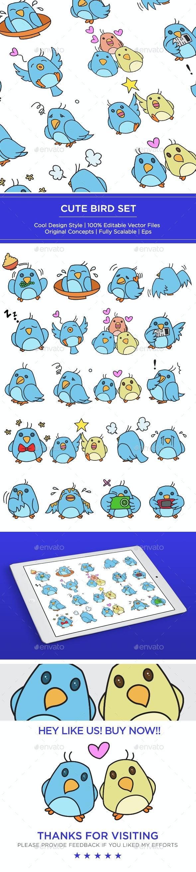 Bird Set - Animals Characters