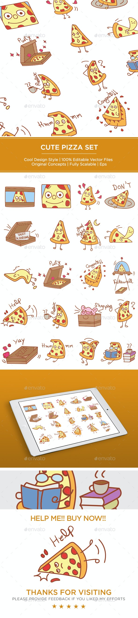 Pizza Set - Miscellaneous Characters
