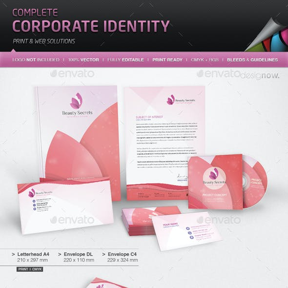 Corporate Identity - Beauty Secrets