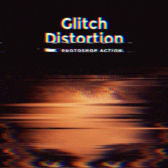 Glitch Distortion Photoshop Action