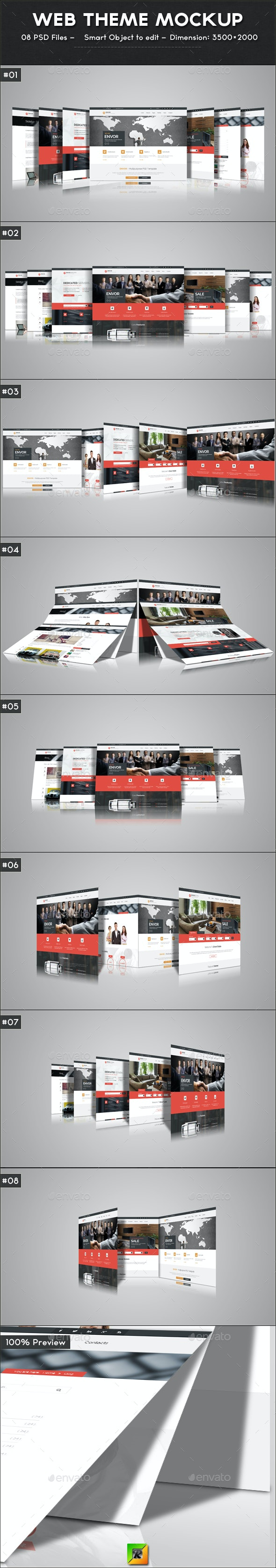 Web Theme Mockup - Website Displays