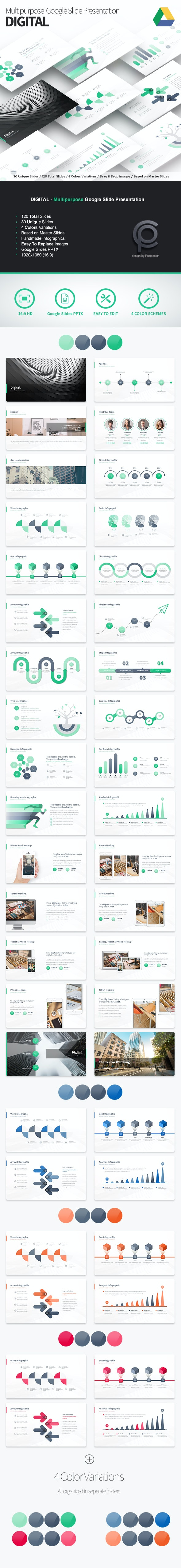 Digital - Multipurpose Google Slide Presentation - Google Slides Presentation Templates