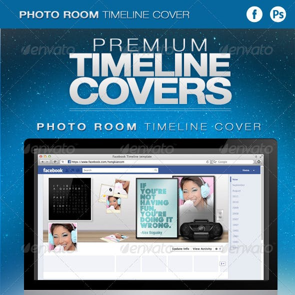 Photo Room Facebook Timeline Cover Template