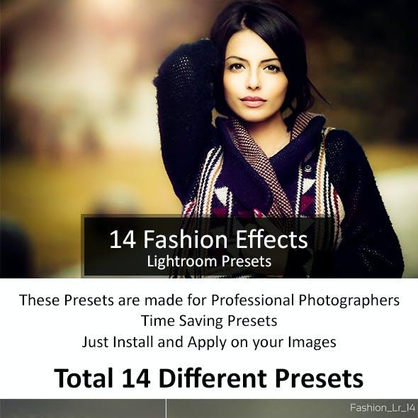 14 Fashion Lr Presets