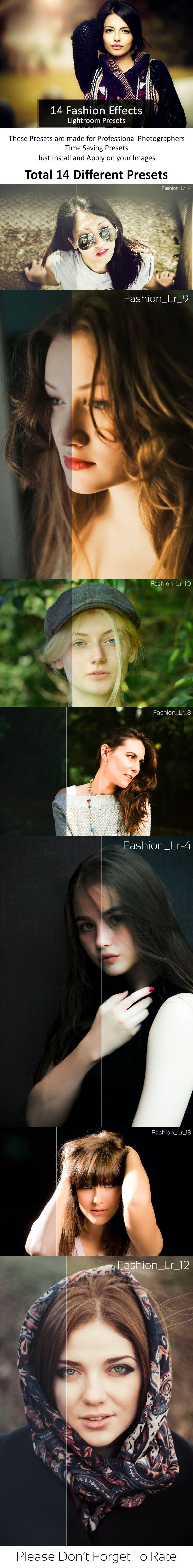 14 Fashion Lr Presets - Portrait Lightroom Presets