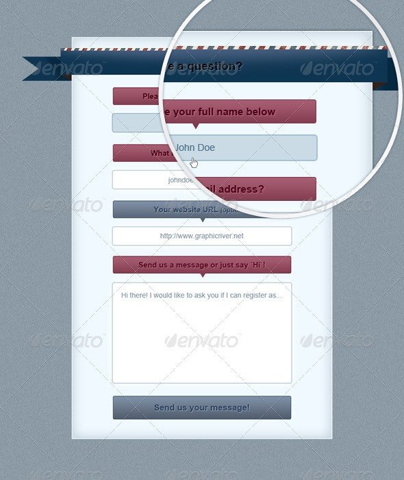 Retro Contact Form - Forms Web Elements