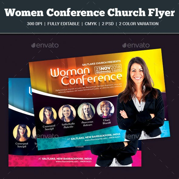 Woman Conference Church Flyer
