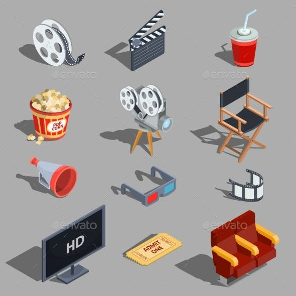 Vector Set of Isometric Illustrations Making