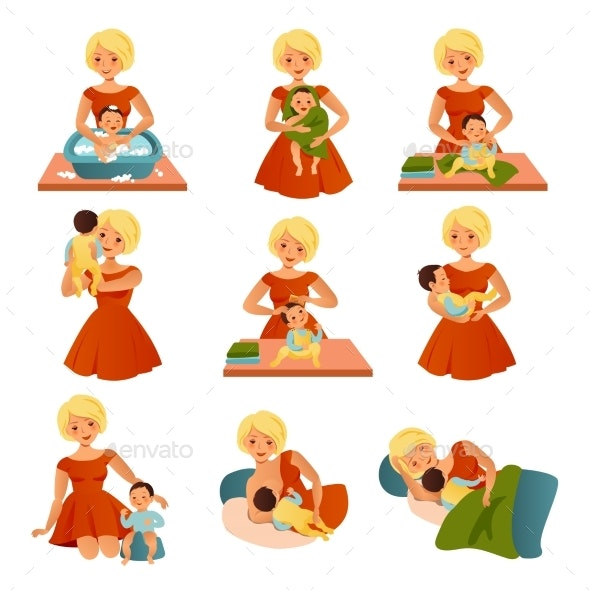 Happy Motherhood Collection - People Characters