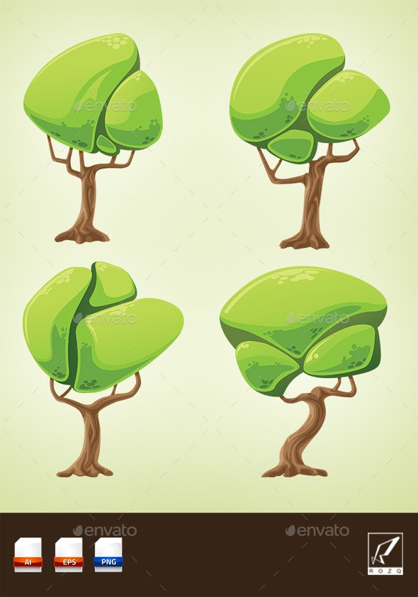 Cartoon Fantasy Trees Pack By Rozq Graphicriver I can custom made designs and sizes, if you need custom made, you can contact me. https graphicriver net item cartoon fantasy trees pack 19918846