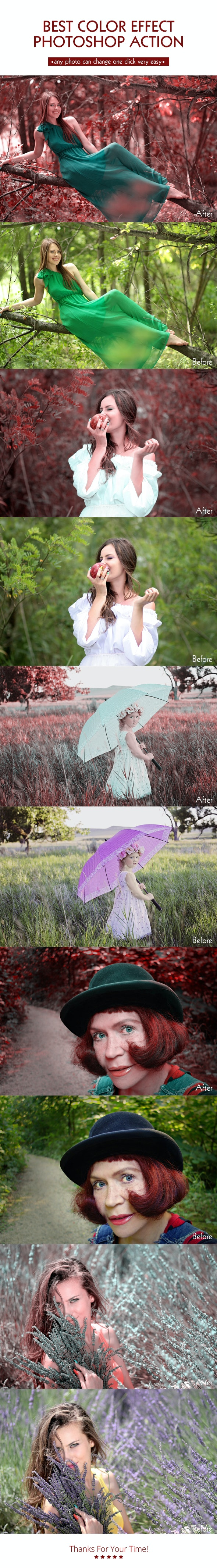 Color Effect Action - Photo Effects Actions