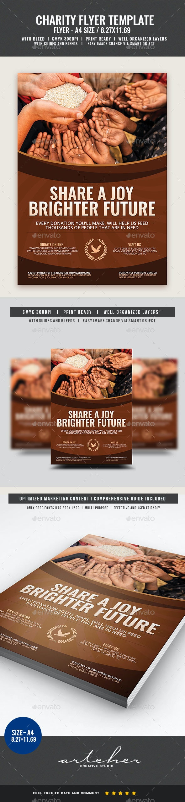 Charity Flyer Template - Flyers Print Templates