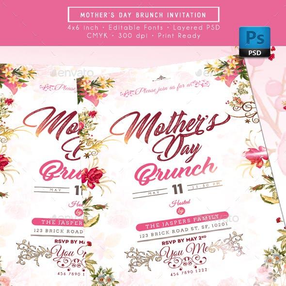 Mother Day Brunch Invitation