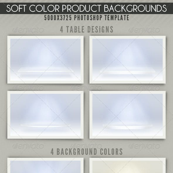 Soft Color Product Backgrounds