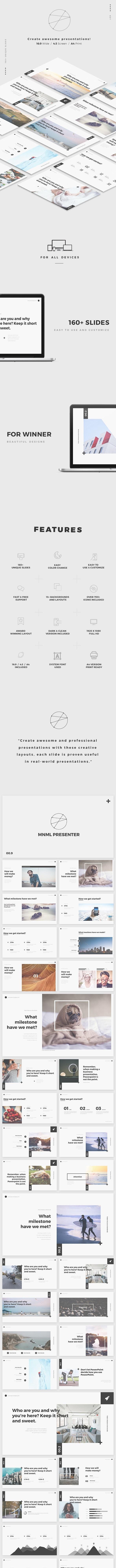 MNML Keynote - Keynote Templates Presentation Templates