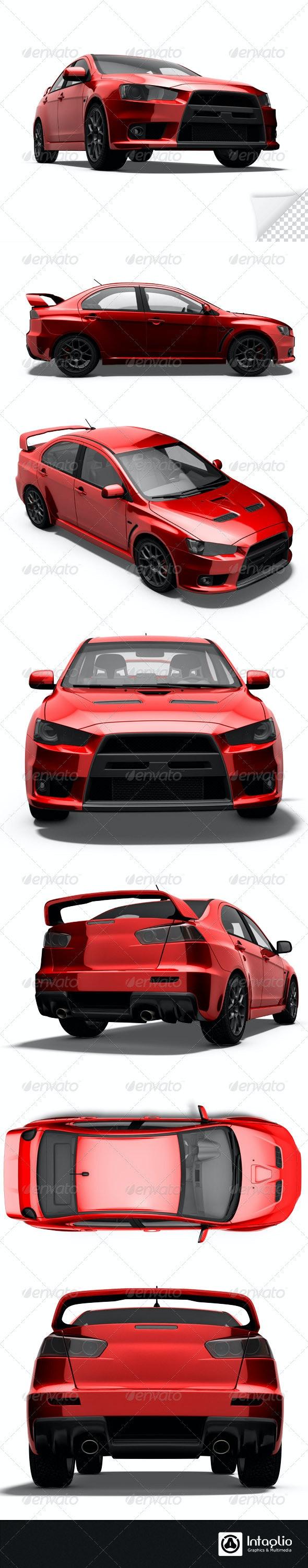 Red Rally Cars Render Bundle - 3D Renders Graphics